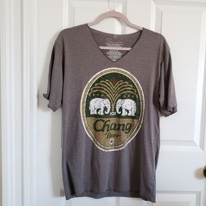 Chang beer | V neck graphic tee L